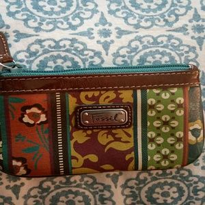 FOSSIL Change Purse Zipper Pouch UNUSED